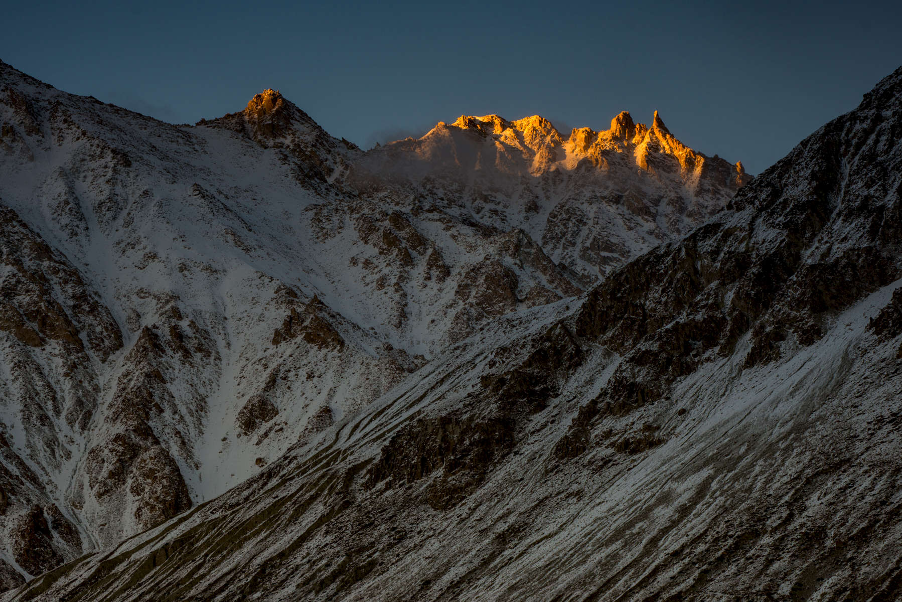 Alpenglow in the Karakoram, Ladakh