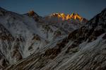 Alpenglow in the Karakoram, Ladakh