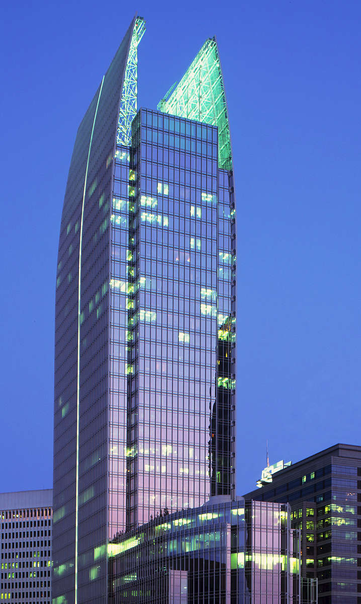 Midtown skylineHighlighted by 1180 Peachtree BuildingAtlanta GA