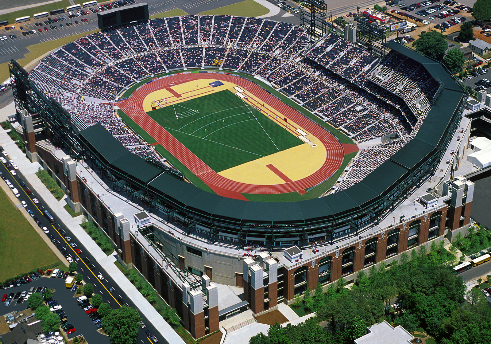 Aerial View of Atlanta Centennial Olympic StadiumAtlanta GAMay 1996