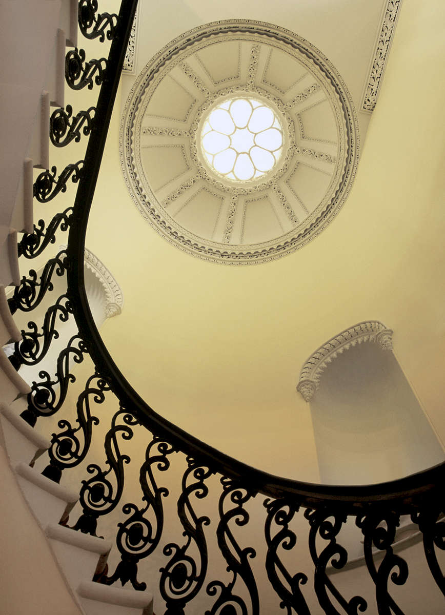 Interior view of staircase and dome insideGreen Meldrim HouseSavannah GA Historic Home