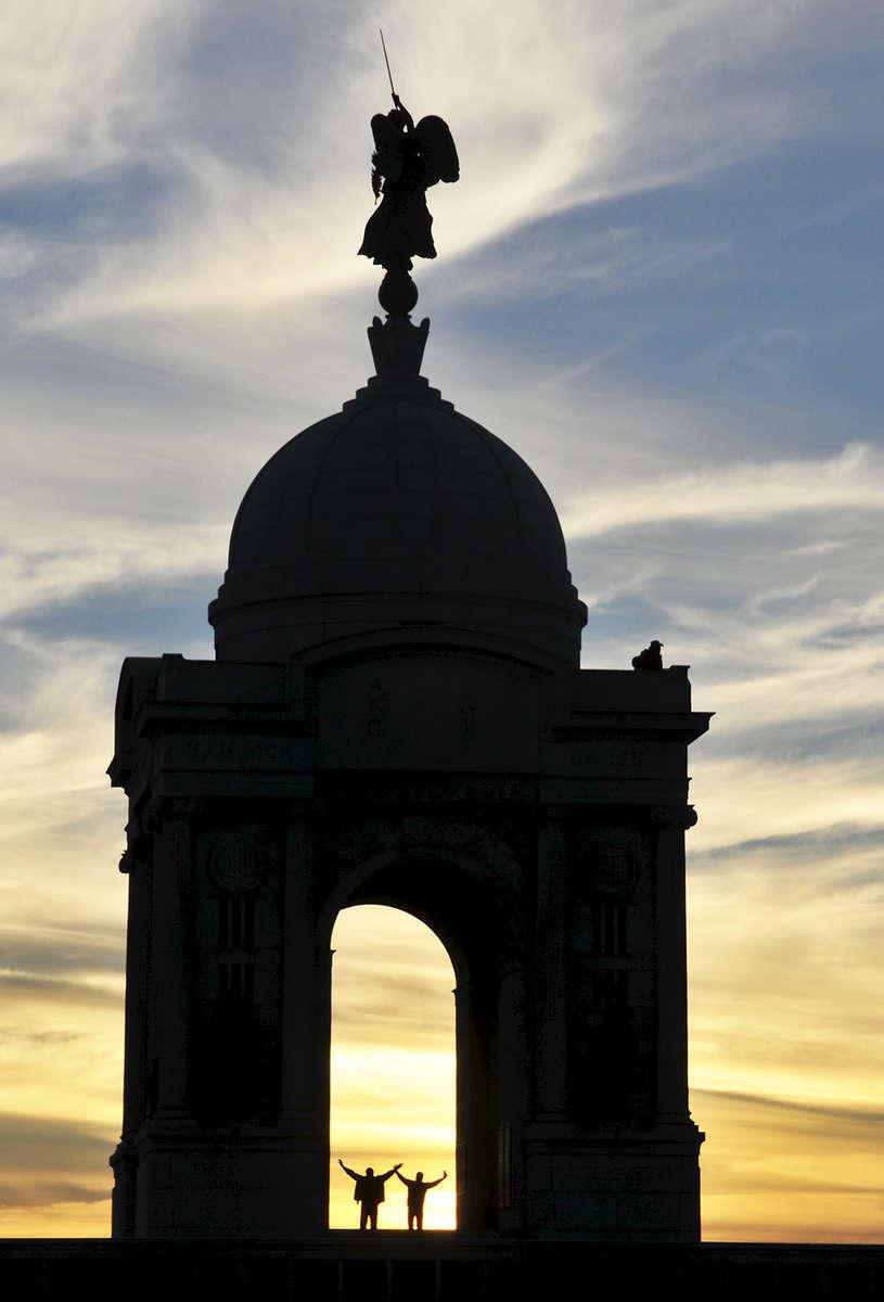 Pennsylvania Monument at sunsetGettysburg National Military ParkGettysburg PA