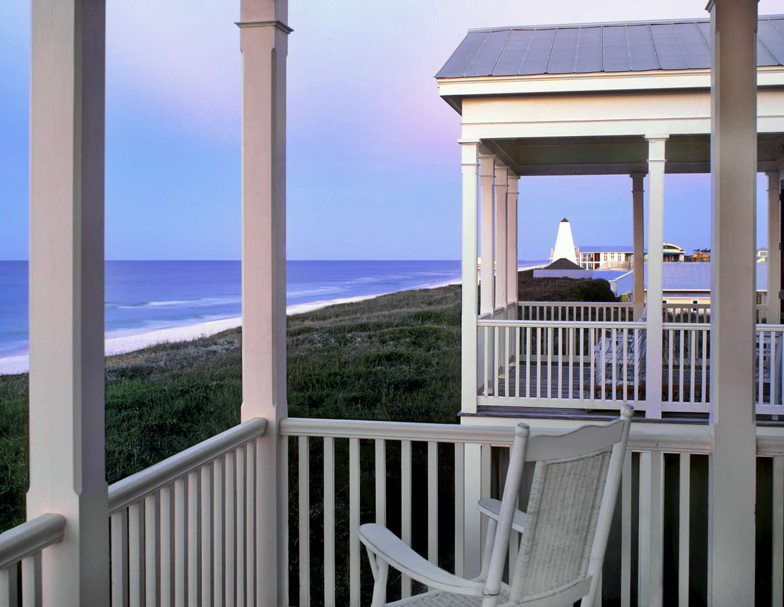 Balcony View at duskSeaside Florida