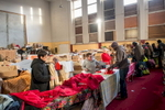 "Calais, December 2014 Twice a month, French charity organization ""Secours Catholique"", distributes clothes, shoes and blankets to migrants."