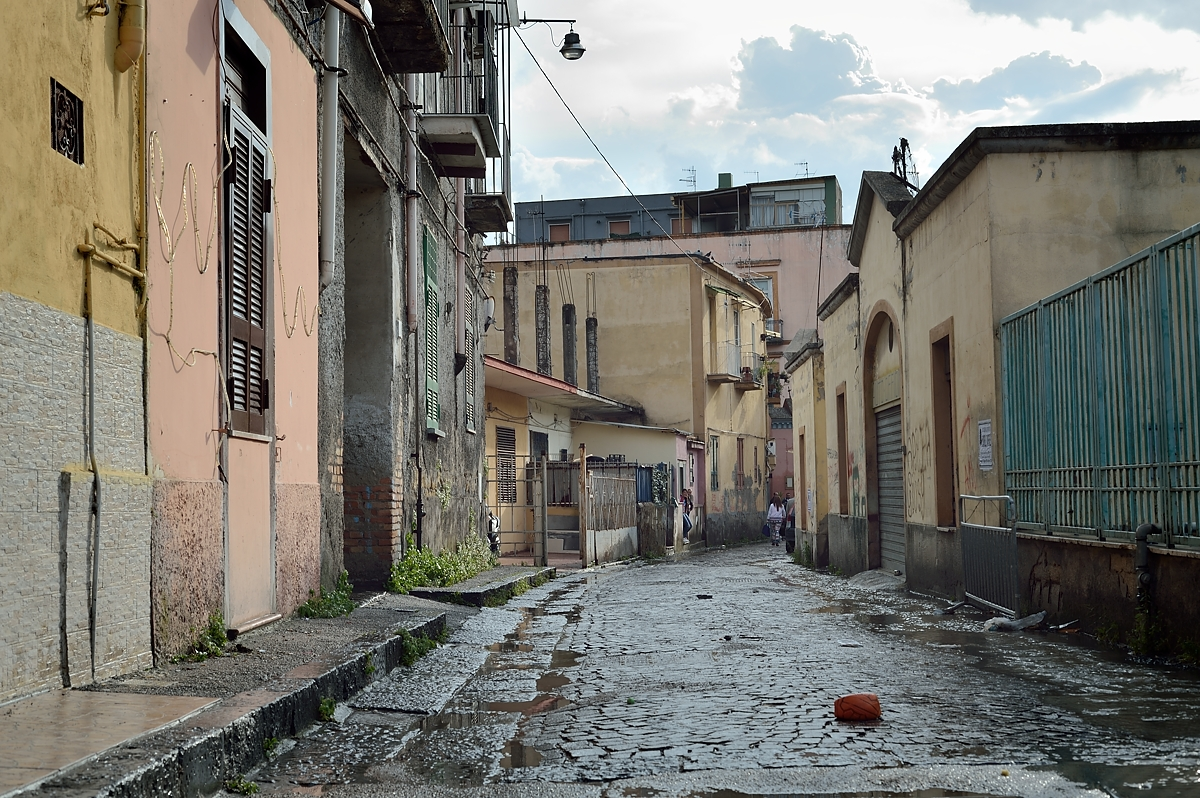 A street in the Barra neigbourhood of Naples.