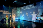 Televolla is one of the many TV stations consecrated to neomelodica music. Here Lucio (12), Sasà (11) and Melissa (13) are seen lip-synching a song on a show where viewers call in dedications and requests.