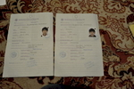 Documents issued by the German government authorizing a one way journey to Kosovo for Sedat and Nasmija Hasani. Both boys were born in Germany and consider it their homecountry.