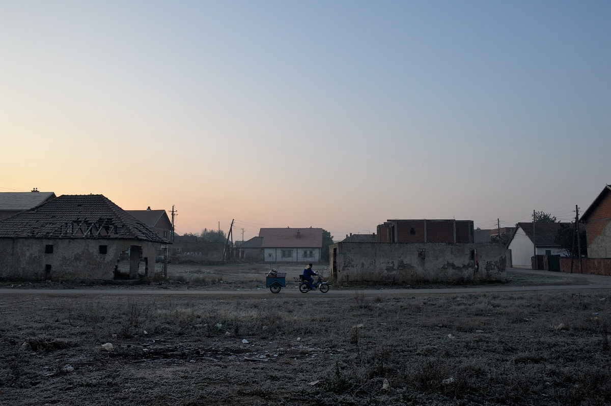 The neighbourhood in Fushe Kosovo where the Hajolli and Mujolli families live.
