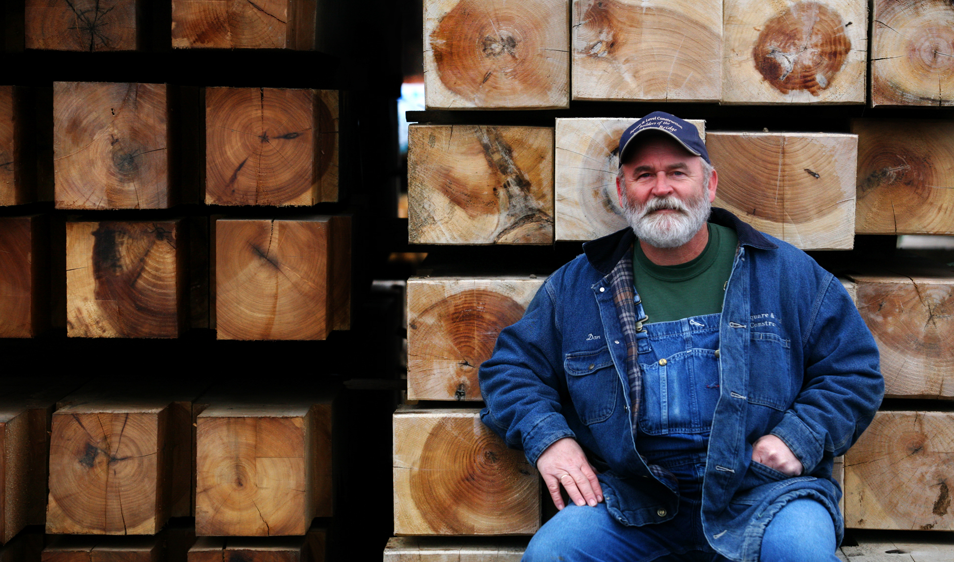Dan Collom, owner of Square and Level Construction restored the Moscow covered bridge after a tornado flattened it.