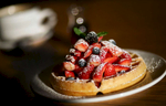 Belgian Waffle by food photographer Perry Reichanadter.