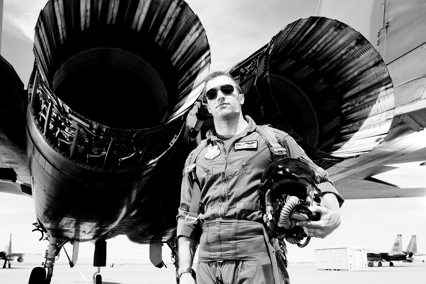 portraits of fighter pilots from the 'wild bore squadron' at mountain home airforce base, idaho