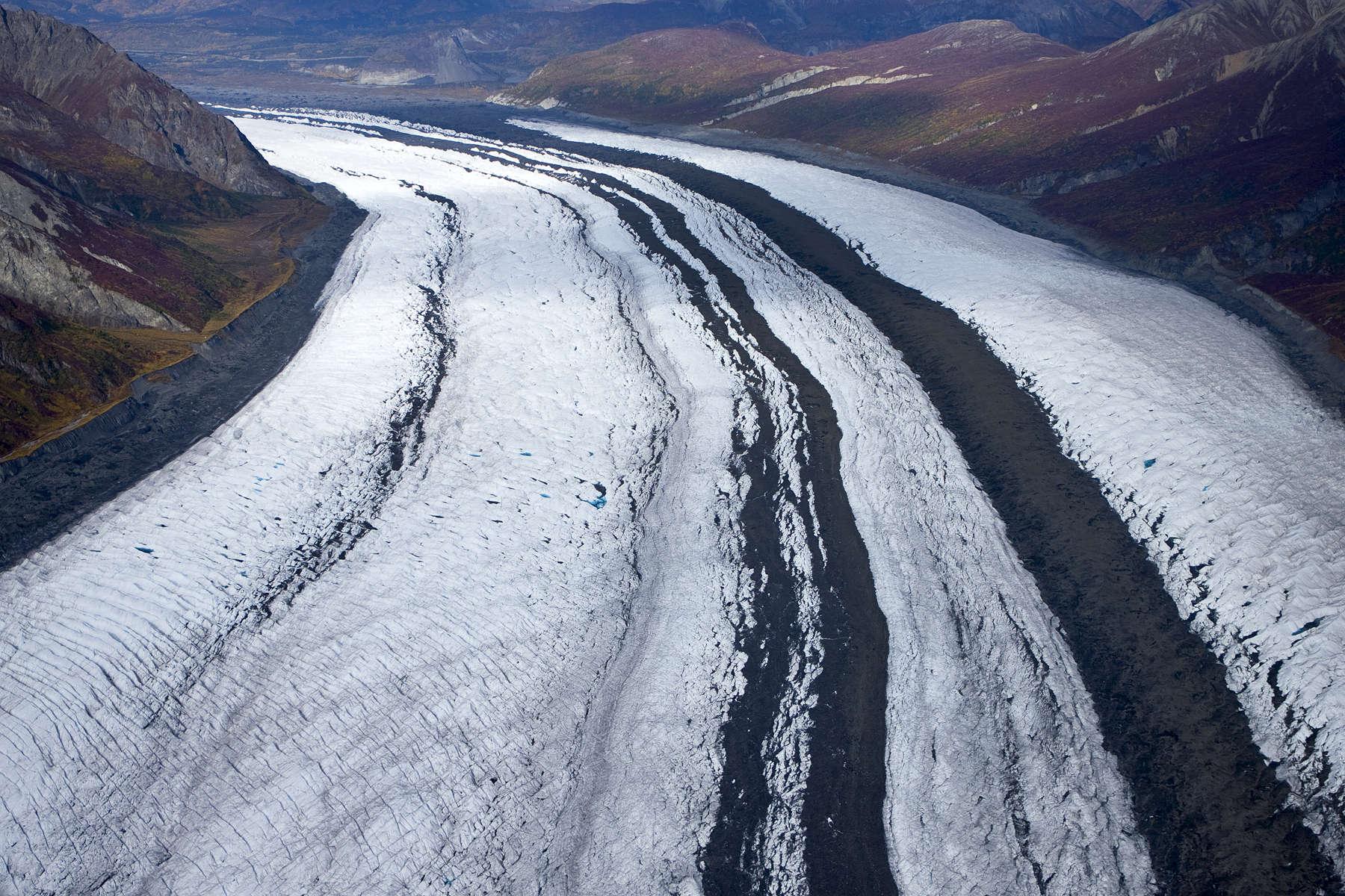 Aerial images of the {quote}Matanuska Glacier{quote}  in Alaska