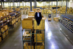 corporate portrait auto parts warehouse