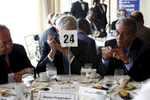 Diplomats during a disaster preparedness lunch conference.