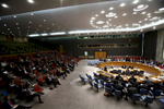 The United Nations Security Council chamber.