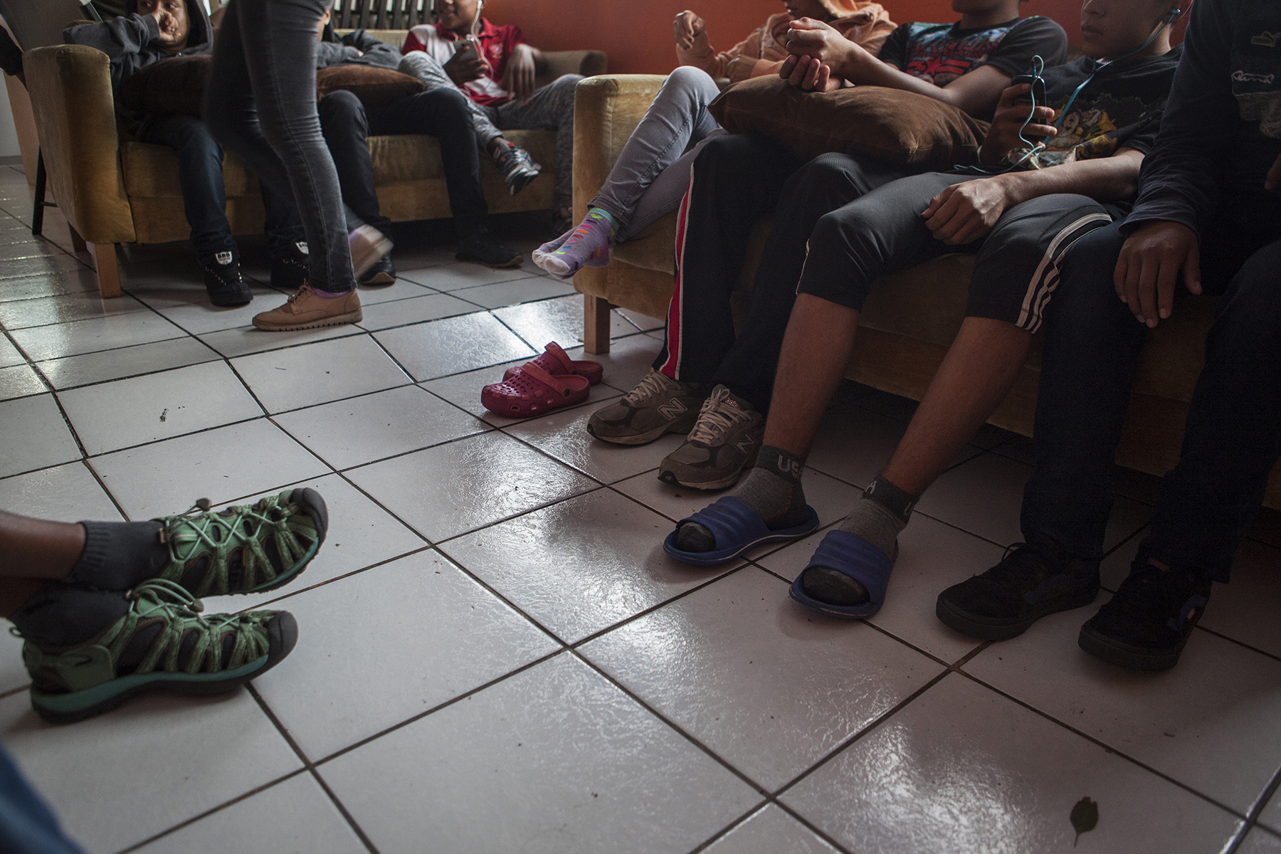 Unaccompanied child and teenage migrants stay in Tijuana, Mexico's only shelter for minors on November 29, 2018. CREDIT: Erin Siegal McIntyre for Frontline