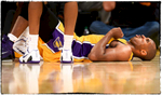{quote}Hitting the Floor, Again{quote} - After waiting almost an entire season for Kobe to return from the ankle injury, came the knee. Everyone held their breath everytime Kobe hit the ground.