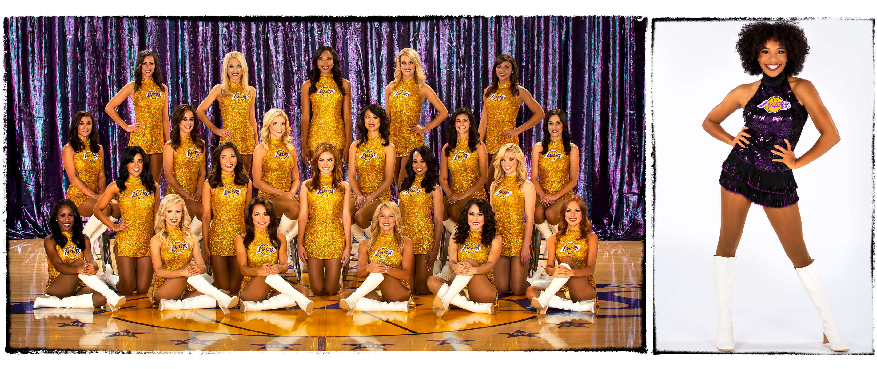 Photographed for The Laker Girls / Bernstein Associates Inc.