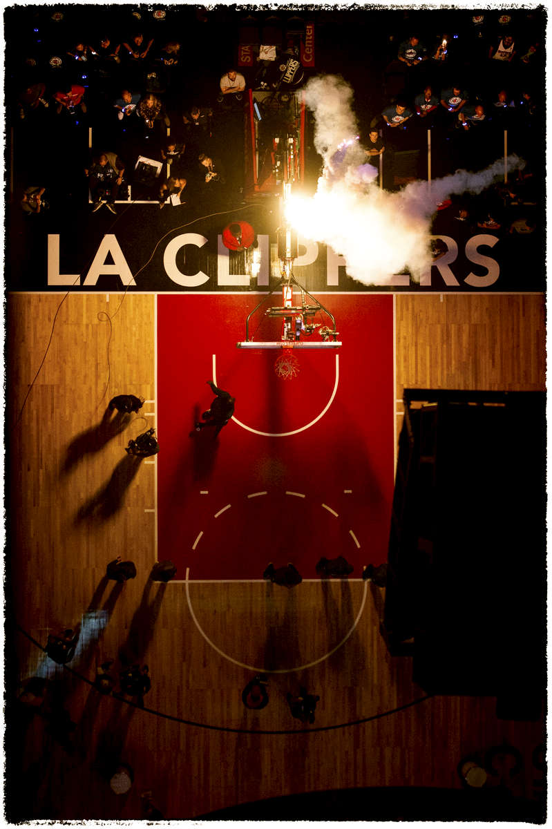 Photographed for the Los Angeles Clippers/ Bernstein Associates Inc.