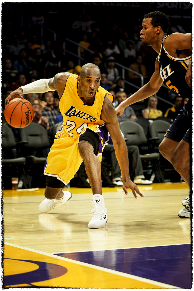 {quote}The End of the Road{quote} - This image really represents the final few months of Kobe's run. With a struggling Lakers team that set franchise lows, most fans who did come out were there to see his famous moves one last time.