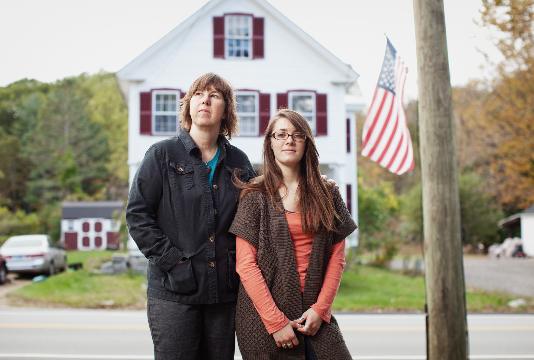 10/5/10 Marlborough, N.H. -- Portrait of Sue Spencer, 50, and her daughter Gaelyn Spencer, 17, at their home in Marlborough, N.H. Oct. 5, 2010.  Photo by Erik Jacobs