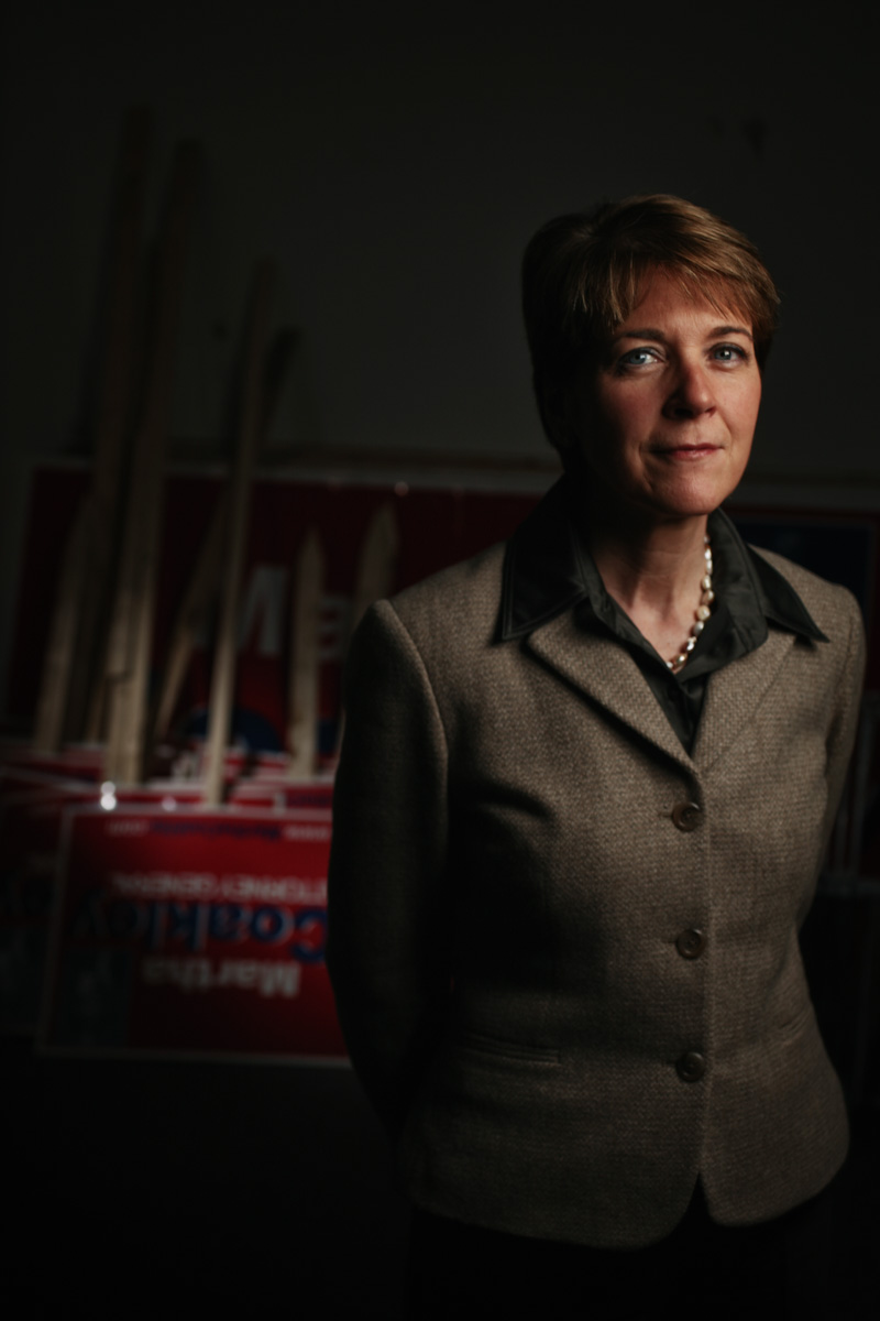 1/5/07 Cambridge, MA -- Portrait of Martha Coakley, the new recently elected Attorney General.  Erik Jacobs for the Boston Globe
