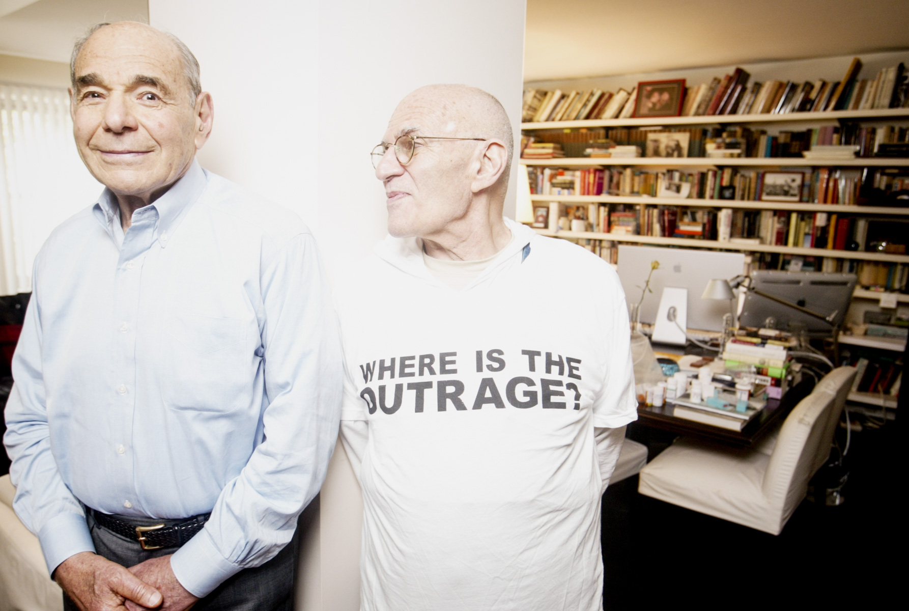 06/14/06 Manhattan, New York - Brothers Arthur and Larry Kramer who are fighting to leagalize gay marriage.Photo Credit Erik Jacobs/The New York TimesAssignment30025222A