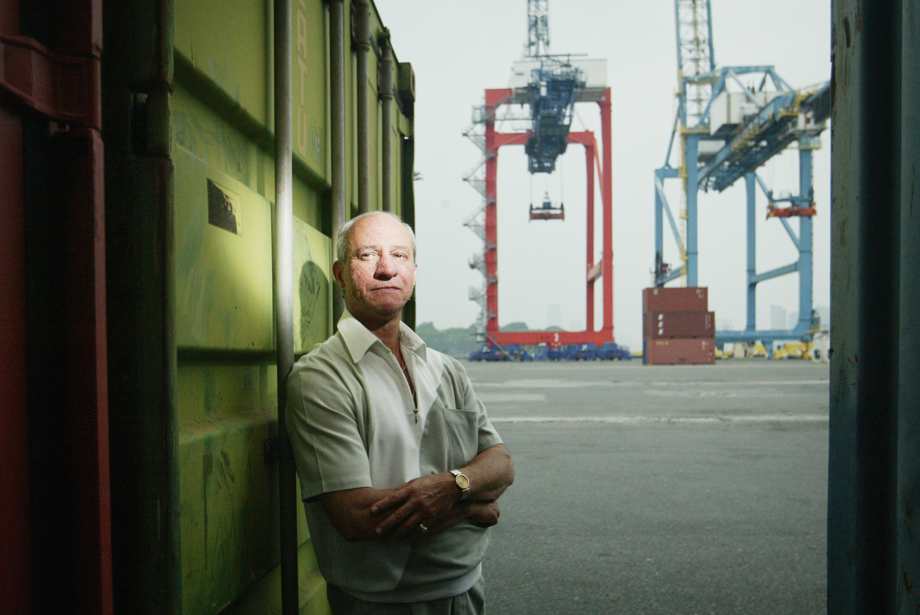 7/12/06 Staten Island NY -  Portrait of stevedore Vinny Pimpinella, shop steward for Local 1 .  Photo Credit Erik Jacobs/The New York TimesAssignment  30026572A