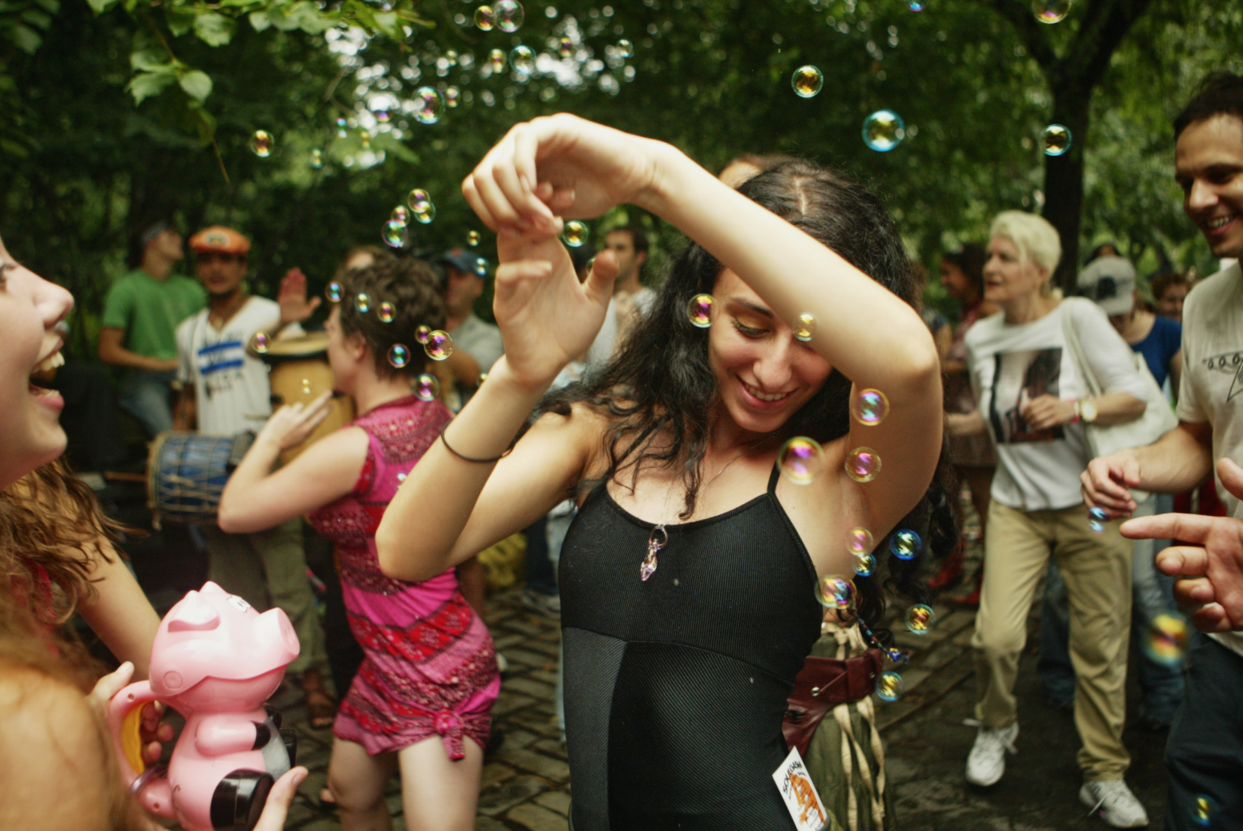 7/22/06 Manhattan, NY -   Outdoor dance event near Mayor Bloomberg's house at 79th St & Fifth Ave in an effort to bring attention to the need for cabaret law reform.Photo Credit Erik Jacobs/The New York TimesAssignment  30027088A
