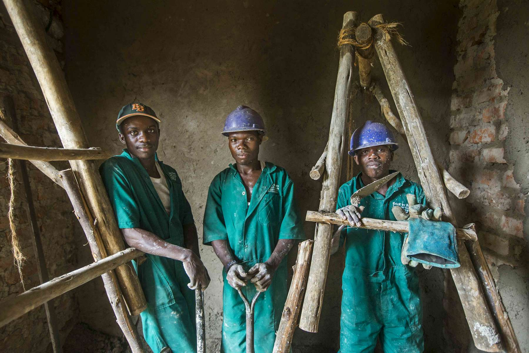 Construction workers, Uganda