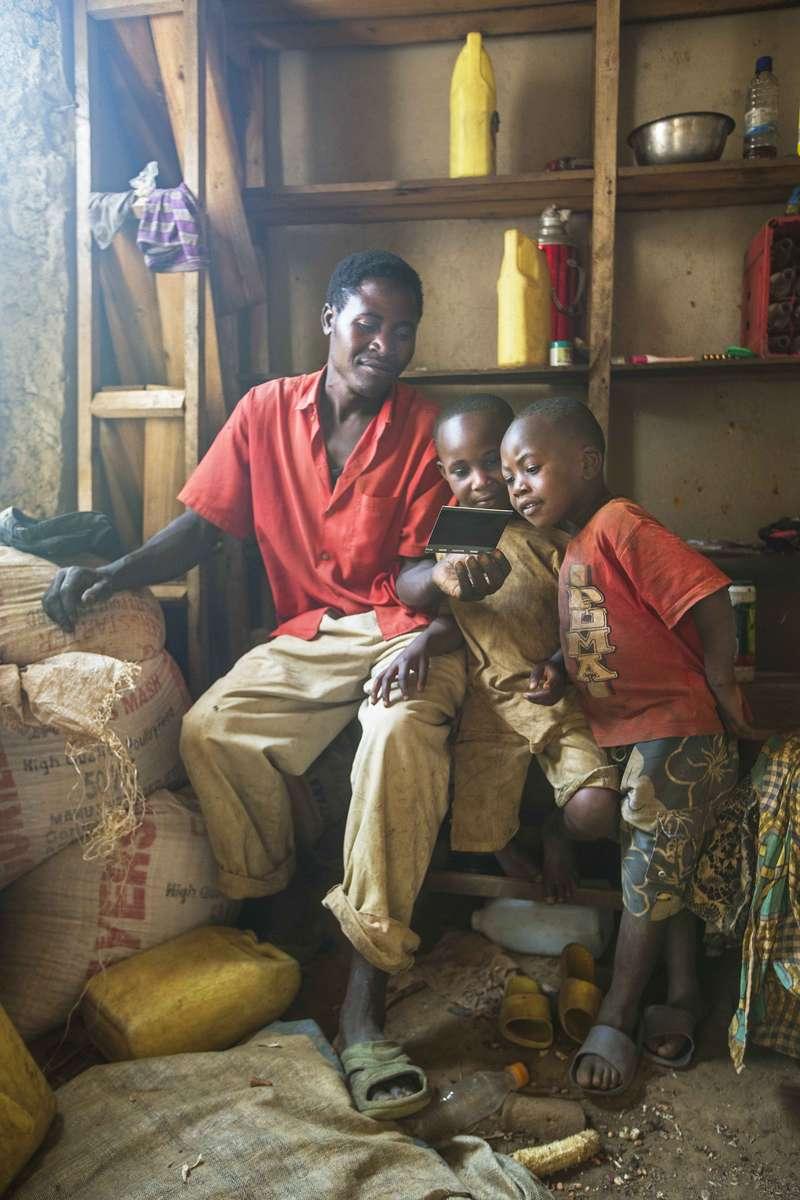 Examing the Polaroid, Rwanda