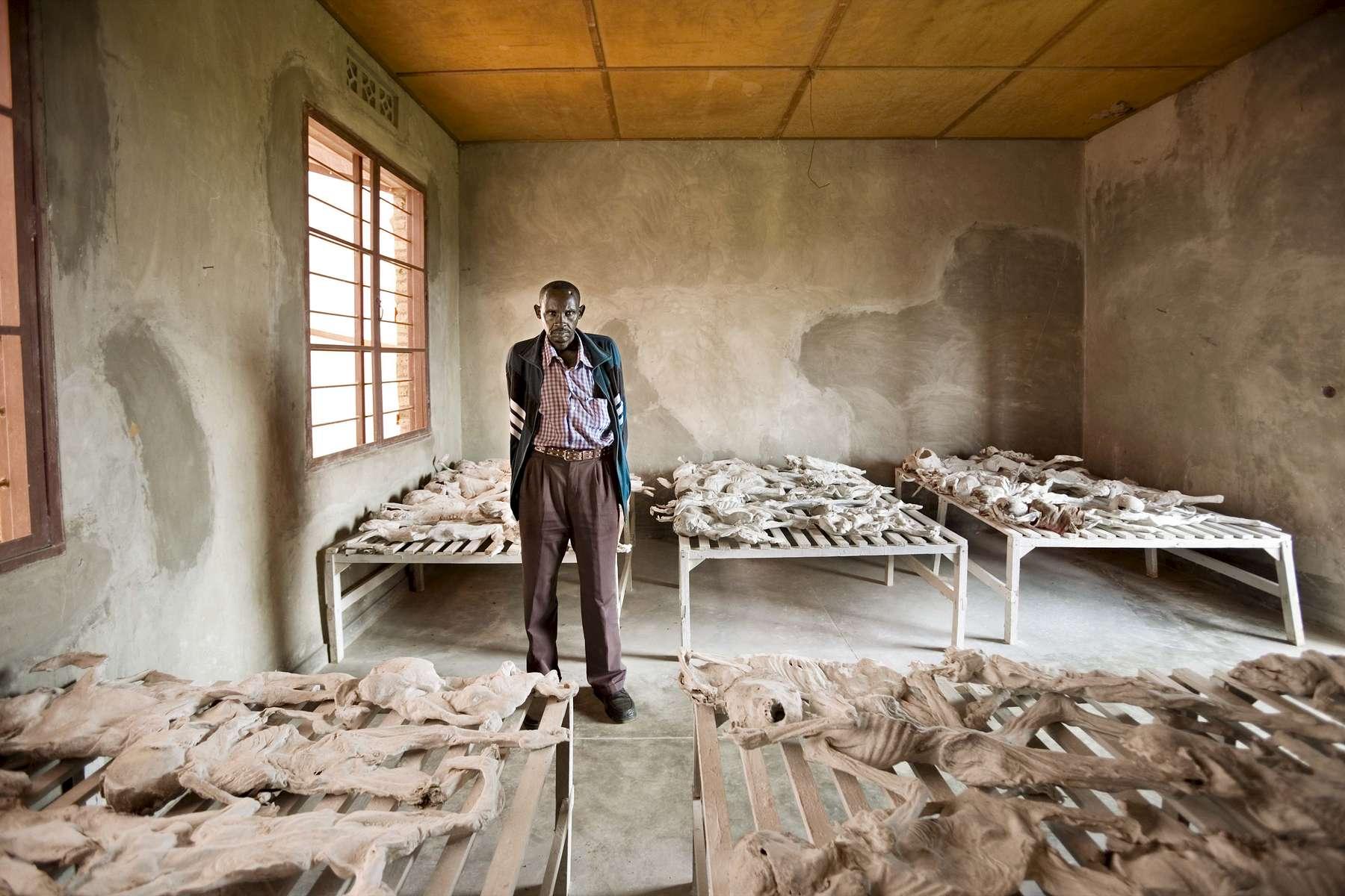 Murambi genocide site, Rwanda