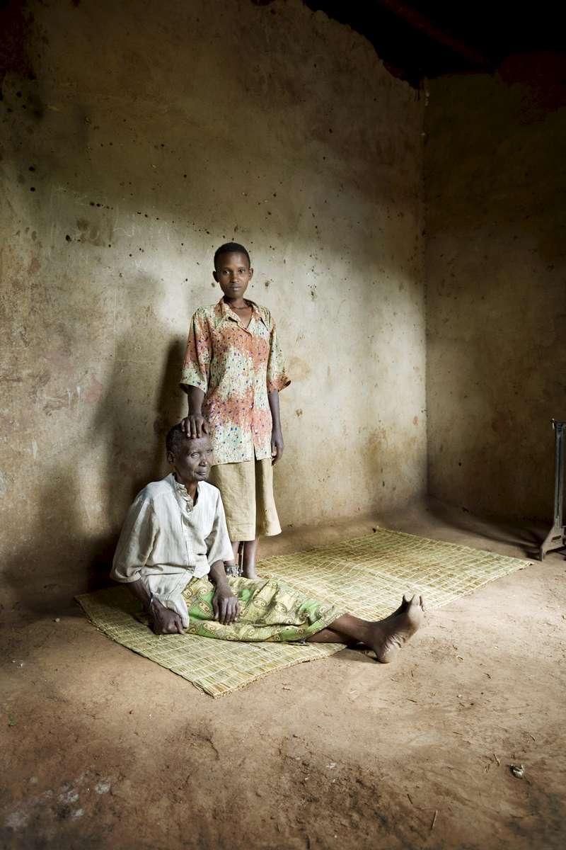 Genocide survivors at home, Rwanda