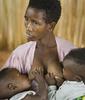 Batwa woman and twins, Rwanda