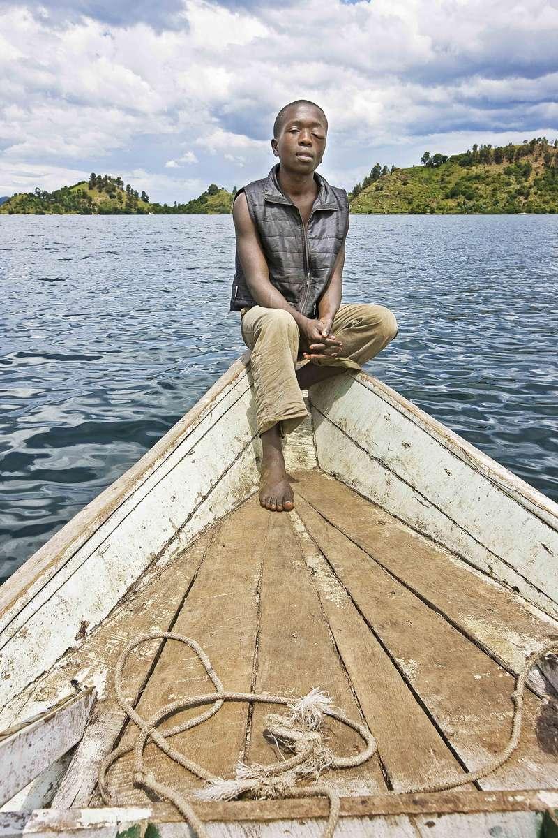 Boat hand on Lake Kivu, Rwanda