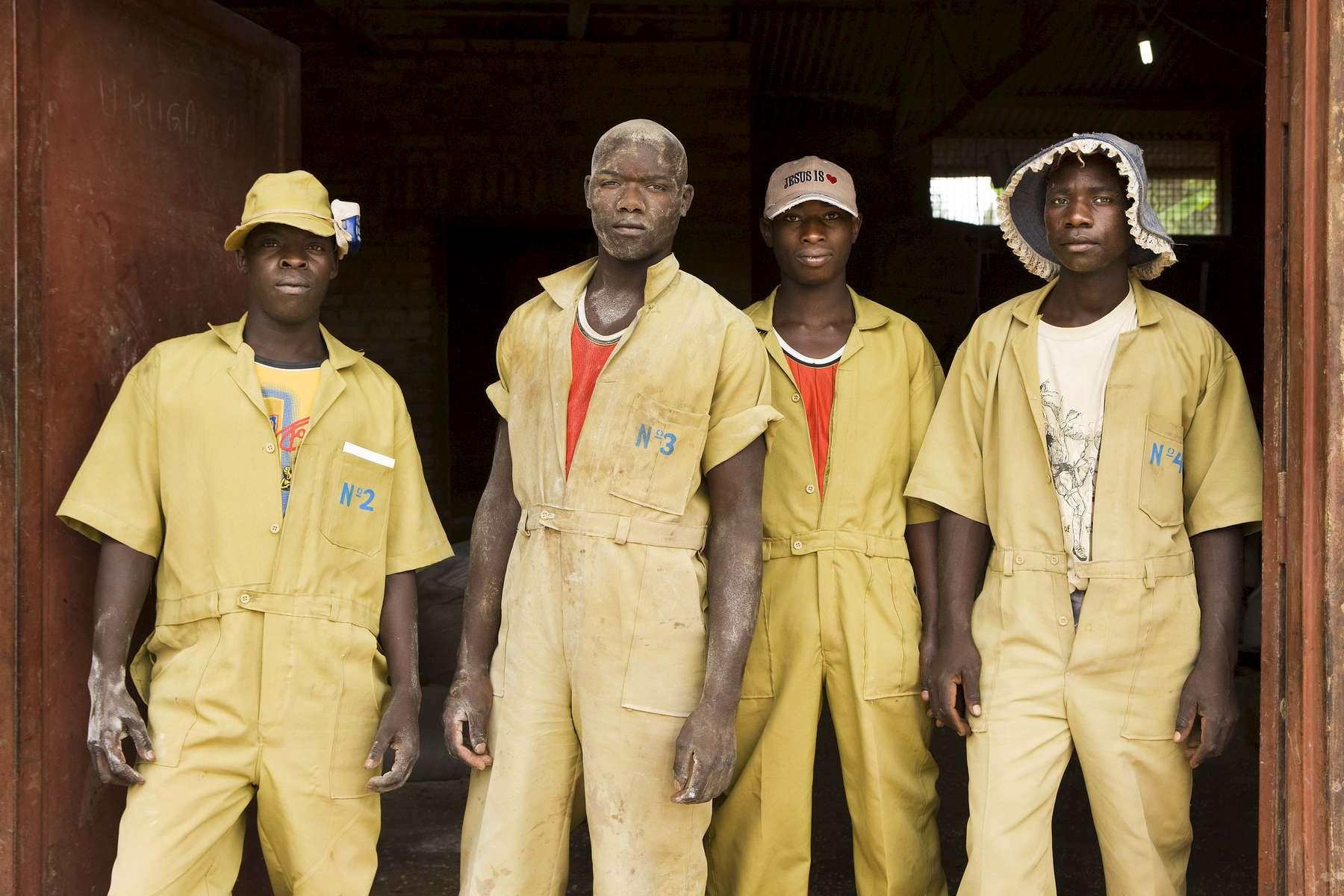 Corn mill workers, Nyaconga, Rwanda