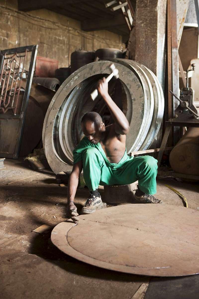 Metal shop, Kigali, Rwanda
