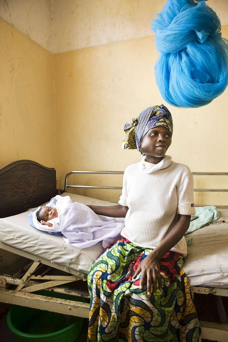 Mother and newborn, Nyaconga, Rwanda