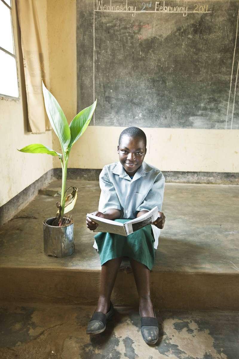Elementary student, Kanombe, Rwanda