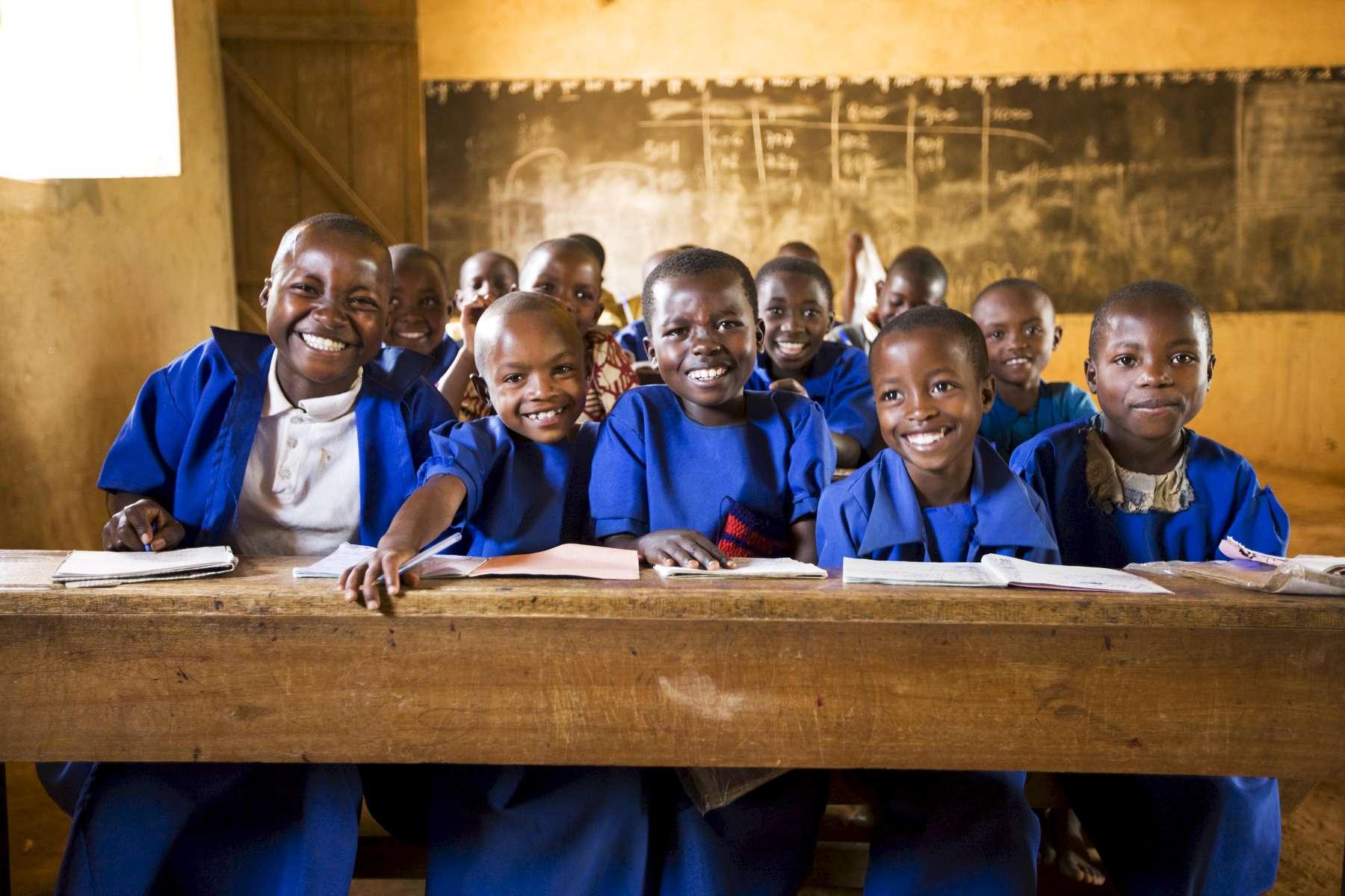 Kids in school, Rwanda