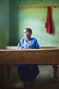 Student in class, Rwanda
