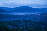 Kigali Rwanda at dusk
