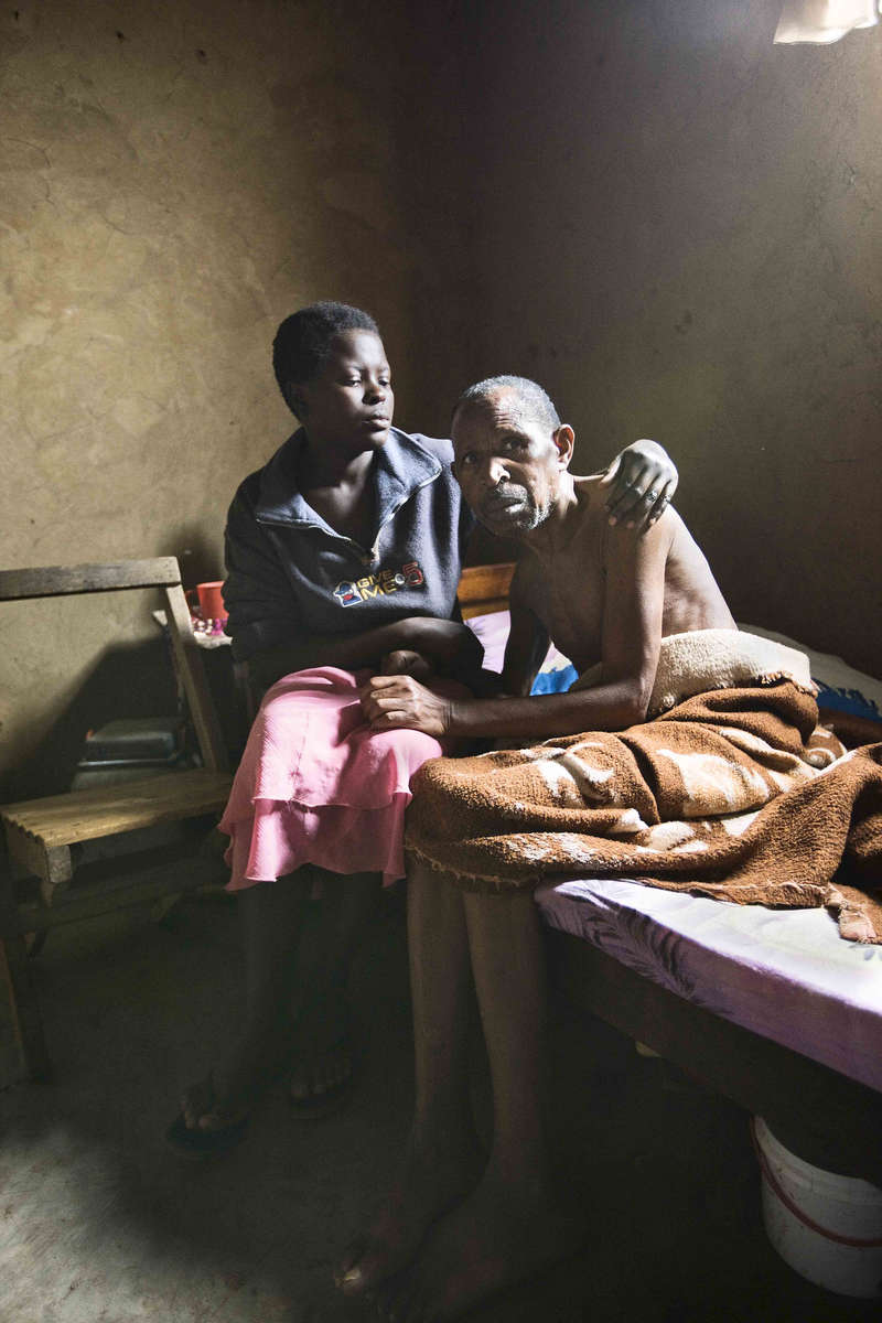 Student at home with dying father, Rwanda