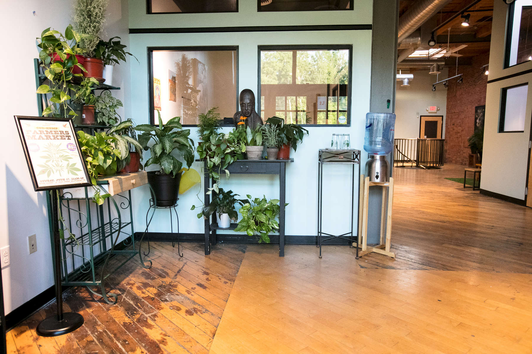 Entryway at 208 Flynn Suite 2J in Burlington Vermont by JAM Creative, a venue space for rentals, parties, workshops, networking and more.