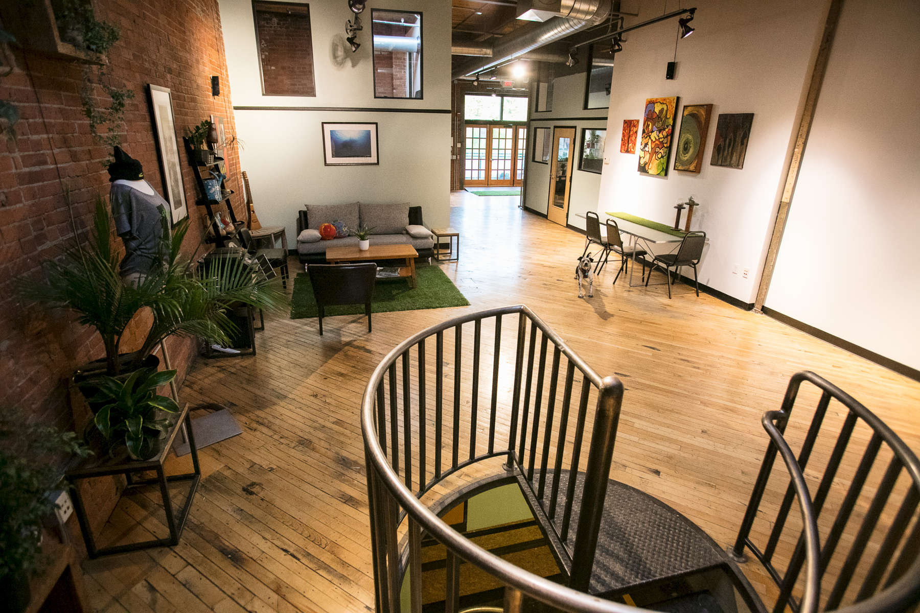 Main loft at 208 Flynn Suite 2J in Burlington Vermont by JAM Creative, a venue space for rentals, parties, workshops, networking and more.