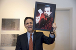 """Sifton Gallery Curator, Judge Rob Levy, spoke about magician and EDNY Judge, Gary Brown, at the opening reception of """"Greetings from Coney Island"""" A Group Photography Exhibition, Charles P. Sifton Gallery, EDNY Courthouse.Photo: © Rick KopsteinJune 28th, 2018"""