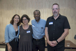 Photograhers, Lauren Welles, Stefanie Dworkin, Leslie Jean-Bart and John Huntington.Photo: © Rick Kopstein