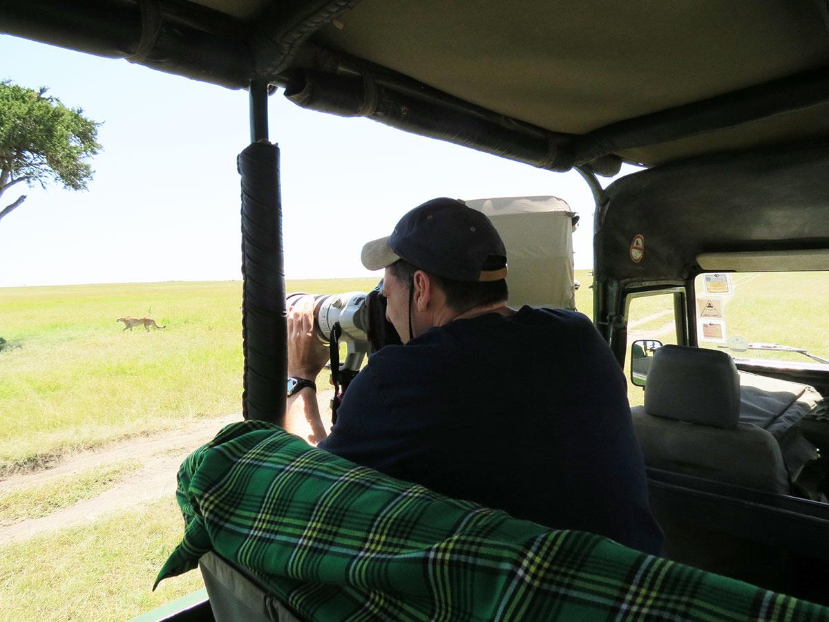 Greg Harvey Photographing Cheetah in Masai Mara