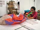 Associate Artist working with performance artist, Pat Oleszko