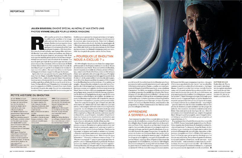 From Bhutan to USA, Le Monde magazine, 2009
